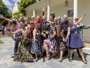 The Queens Birthday Reception 12th June 21 at Govenment House. The Retro Festival 'Flash Mob' (29651371)